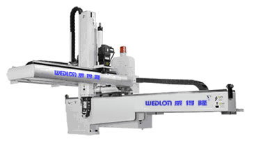 Middle Servo Traverse Type Robot Arm - The Middle Servo Type Robot Arms are extensively applied to plastic injection molding machine 350T ~ 1800T.